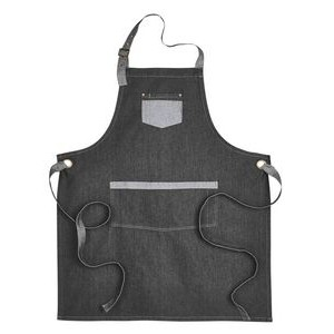 ARTISAN COLLECTION BY REPRIME Unisex Domain Contrast Denim Bib Apron