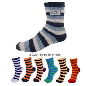 Custom Overseas Striped Fuzzy Socks